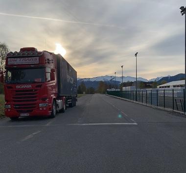 Transport routier de conteneur maritime