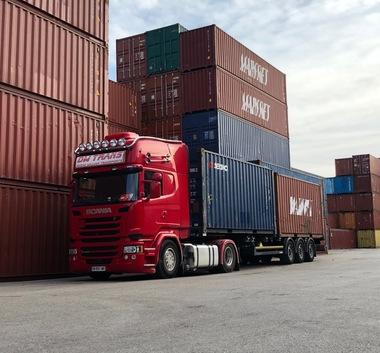 Transporteur de conteneur en France